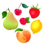 Set of different fruits Stock Photography