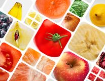 Fruits vegetables and berries Stock Images