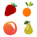 Set of different fruits Royalty Free Stock Image
