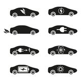 Set of Different Fuel icons Stock Photos