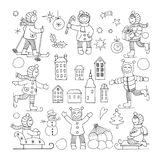 Set of different funny kids icons Royalty Free Stock Image