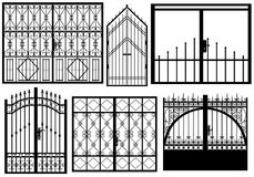Set of different gates Stock Photos