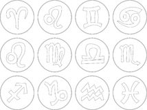 Zodiac sign icons vector illustration