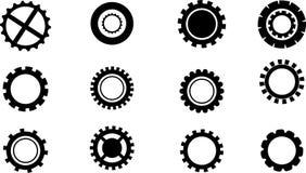 Set of Gears in vector Stock Image