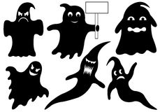 Set Of Different Ghosts Royalty Free Stock Photo