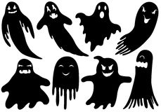 Set Of Different Ghosts Royalty Free Stock Images