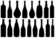 Set Of Different Glass Bottles Stock Image