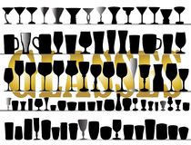 Set of different glasses Stock Photo