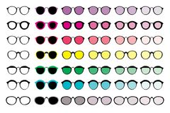 A set of 42 different glasses. vector illustration
