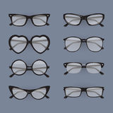 Set of different glasses Stock Photos