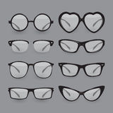 Set of different glasses Stock Image
