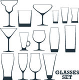 Set of different glasses Royalty Free Stock Photo