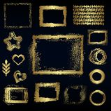 Set of different gold elements, vector design Stock Photo