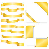 Golden Ribbons Stock Photography
