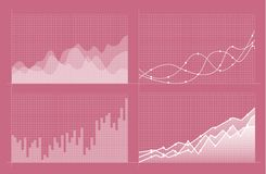 Set of different graphs and charts. Infographics stock illustration