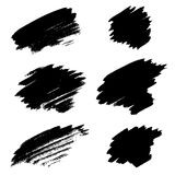 Set of different grunge brush stains. Royalty Free Stock Photos