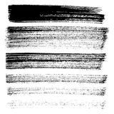 Set of different grunge brush strokes and stains. Royalty Free Stock Image