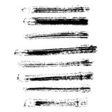Set of different grunge brush strokes. Royalty Free Stock Photography