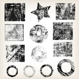 Set of different grunge objects vector Stock Images