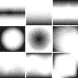 Set of different halftone backgrounds. Dot texture Stock Photography