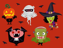Set of Different Halloween Characters royalty free illustration