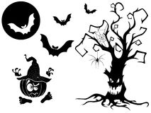 Set of different Halloween vector silhouettes Stock Photography