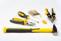 A set of different hand tools Stock Photography