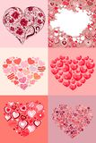Set of different hearts Royalty Free Stock Images