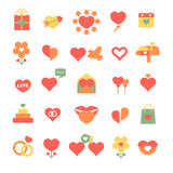 Set of different hearts icons Stock Image