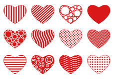Set Of Different Hearts Royalty Free Stock Photos