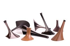 Women heels to replace. Heels on a white background. Set of different heels for the repair of women shoes with heels royalty free stock photos