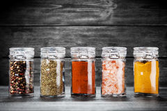 Set of different herbs and spice Royalty Free Stock Image