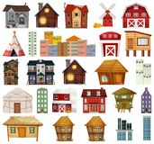 Set of different house royalty free illustration
