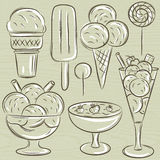 Set of different  ice cream, vector Stock Photo