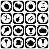 Set with different icons Royalty Free Stock Photography