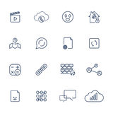 Set with different icons Stock Photos