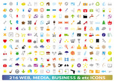 Set of different icons and symbols Stock Image