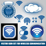 Set of different icons for technology wifi Stock Images