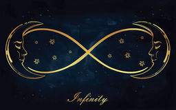 Set of different infinity symbols. Royalty Free Stock Images