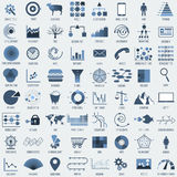 Set of different 64 infographic elements. Stock Images