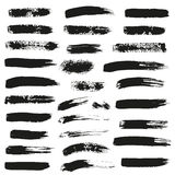 Set of different ink brush strokes Stock Photography
