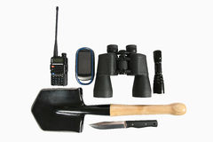 Set of different items for Hiking Stock Photo