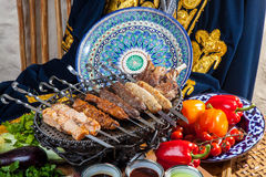 Set of different kebabs Stock Photography