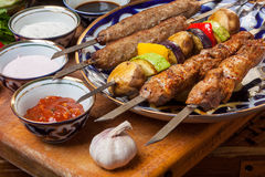 Set of different kebabs Royalty Free Stock Photos