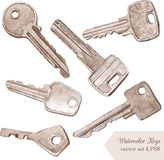 Set of different keys Stock Photo