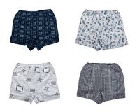 Set of different Kid cotton underpants isolated on white background.  Stock Photo
