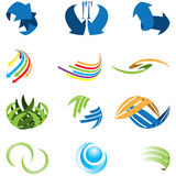 Set of different kind of abstract icon symbol Royalty Free Stock Photos