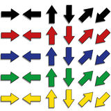 Arrows set. Set of different kind of arrows Stock Image