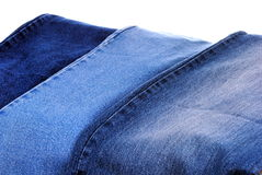 Set of different kind of blue jeans Royalty Free Stock Photo