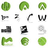 Set of different kind of logo Stock Photography